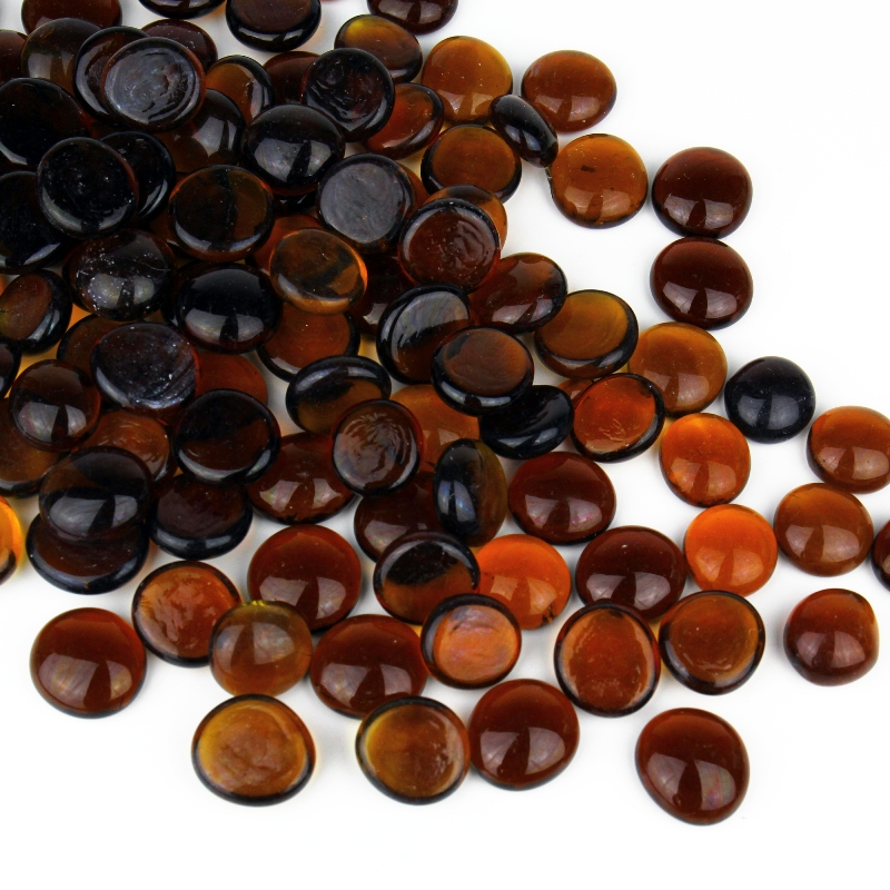 Vase Fillers Gem Glass Confetti Dark Amber, 10 lbs