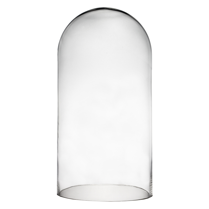 "Glass Cloches. H-18.5"", Wholesale Pack of 2 pcs"