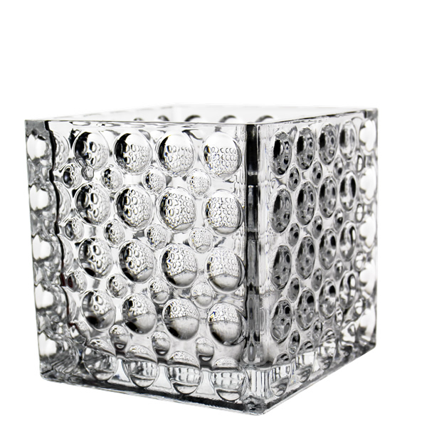 "Cube Vase. H-6"", Clear, Pack of 12 pcs"