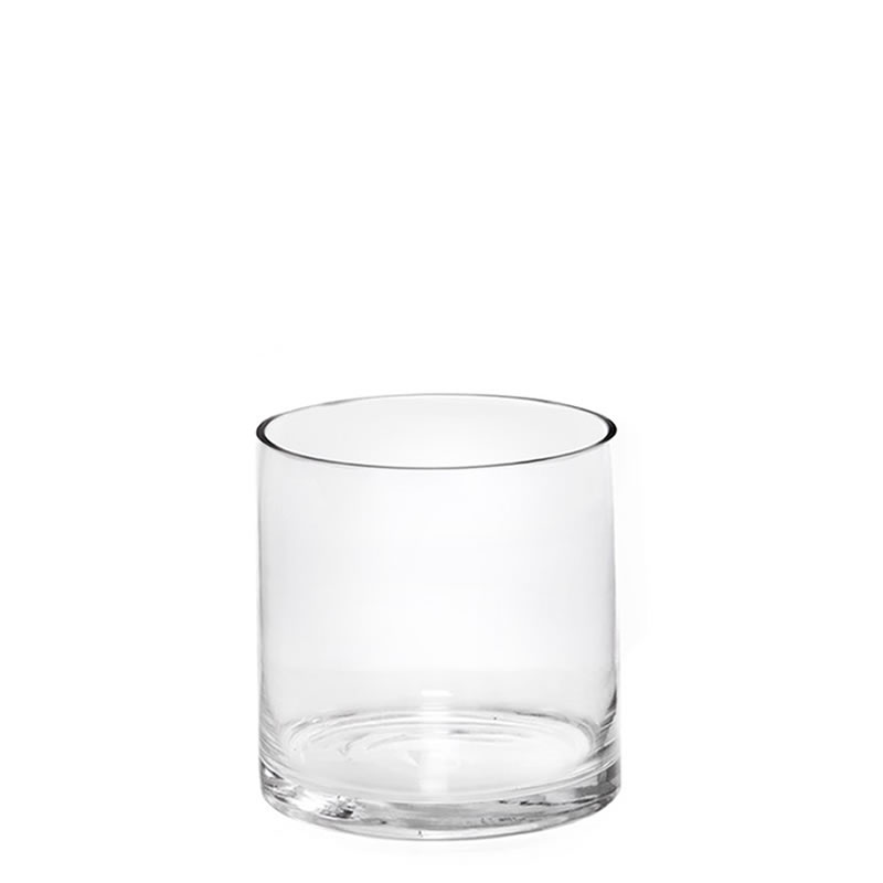 "Glass Cylinder Vases. H-5"",  Open D - 5"" , Pack of 12 pcs"