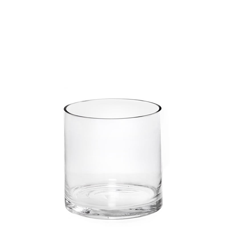 "Glass Cylinder Vases. H-6"",  Open D - 6"" , Pack of 12 pcs"