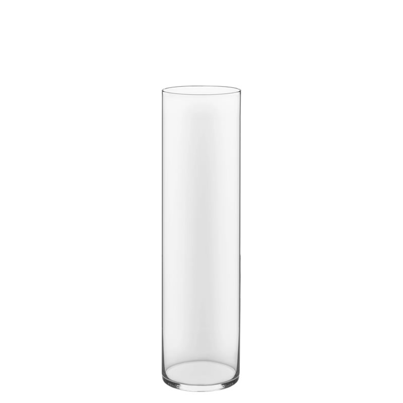 "Glass Cylinder Vases. H-16"",  Open D - 4"", Pack of 6 pcs"