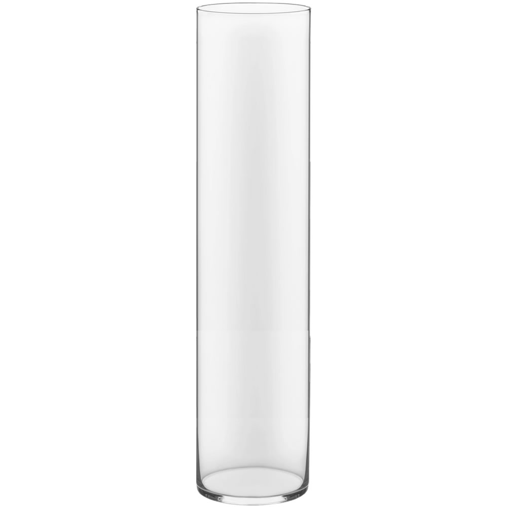 "Glass Cylinder Vases.  H-34"", Open D - 8"", Pack of 2 pcs"