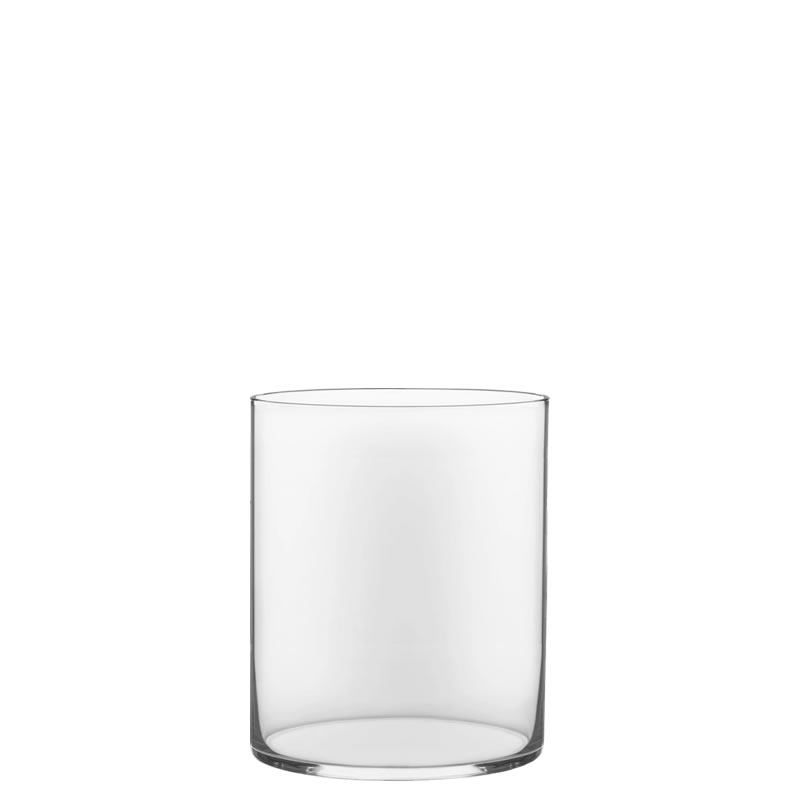 "Glass Cylinder Vases.  H-12"", Open D - 10"", Pack of 4 pcs"