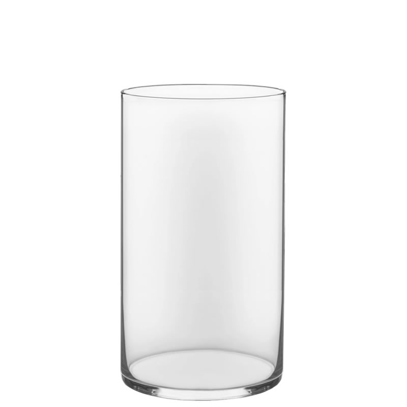 "Glass Cylinder Vases.  H-16"", Open D - 10"", Pack of 4 pcs"