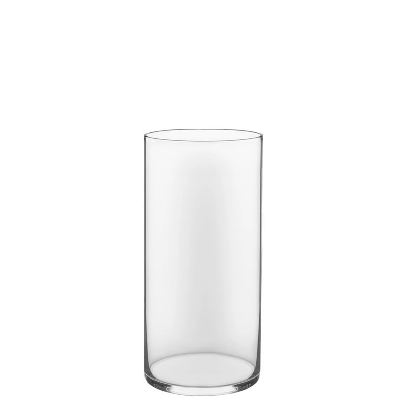 "Glass Cylinder Vases. H-10"",  Open D - 5"" , Pack of 6 pcs"