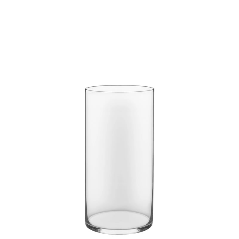 "Glass Cylinder Vases. H-12"",  Open D - 6"", Pack of 4 pcs"