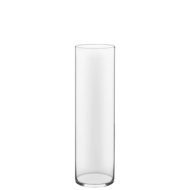 "Glass Cylinder Vases. H-20"",  Open D - 6"", Pack of 4 pcs"