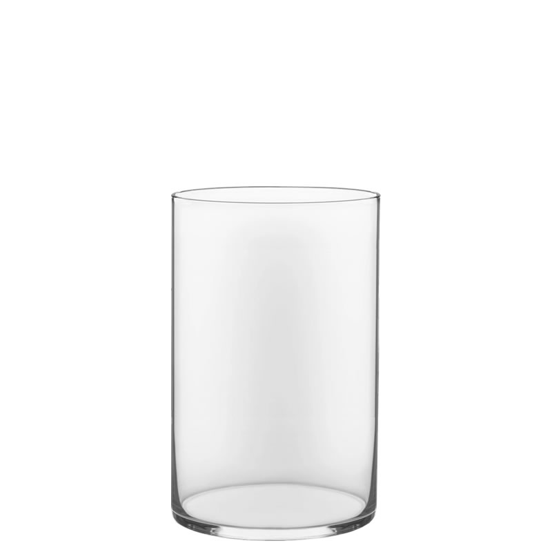 "Glass Cylinder Vases. H-12"",  Open D - 8"", Pack of 4 pcs"