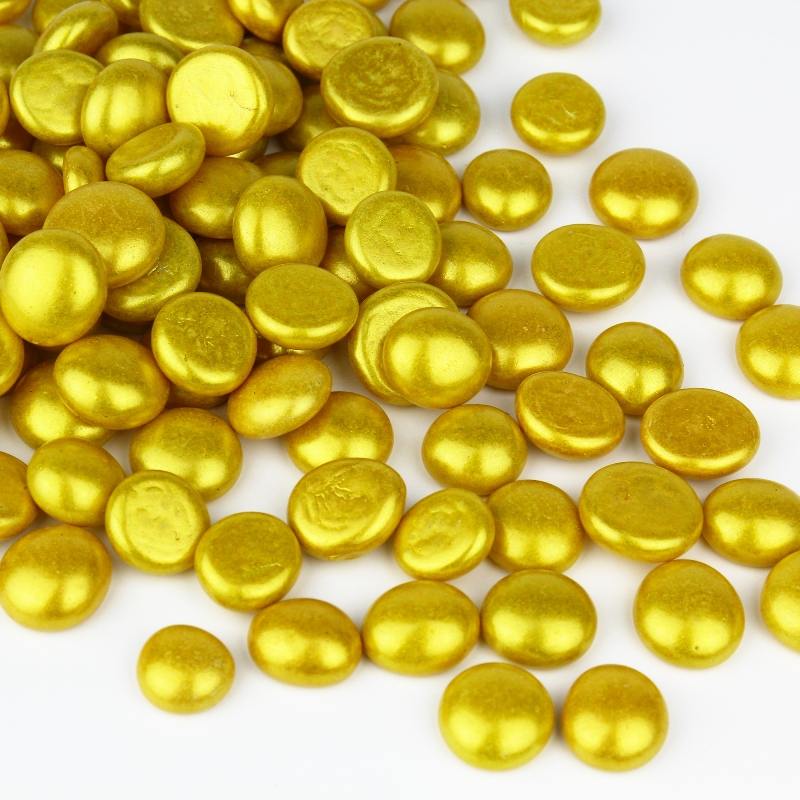 "Flat Glass Gem Marbles. Color: Gold, D-0.6"", Pack of 26 bags (Free Shipping)"