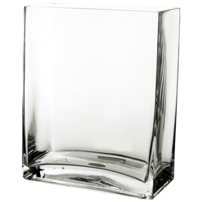 Wholesale Rectangular Vase Clear 10 Quot H X 8 Quot W X 4 Quot L Pack