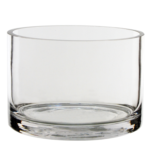 """Wholesale Glass Cylinder Vases H 4"""" Open D 6"""" Pack of"""
