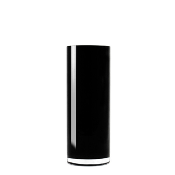 "Black Cylinder Vase H-9"", Open D - 4"", Pack of 4 pcs"