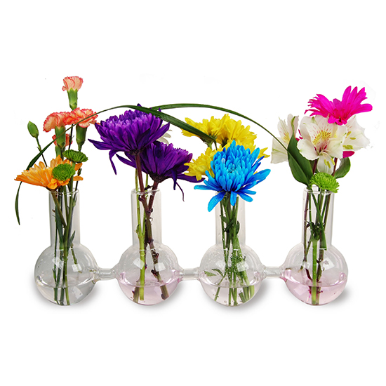 "Glass Bud Vase. H-6"", Pack of 8 sets"