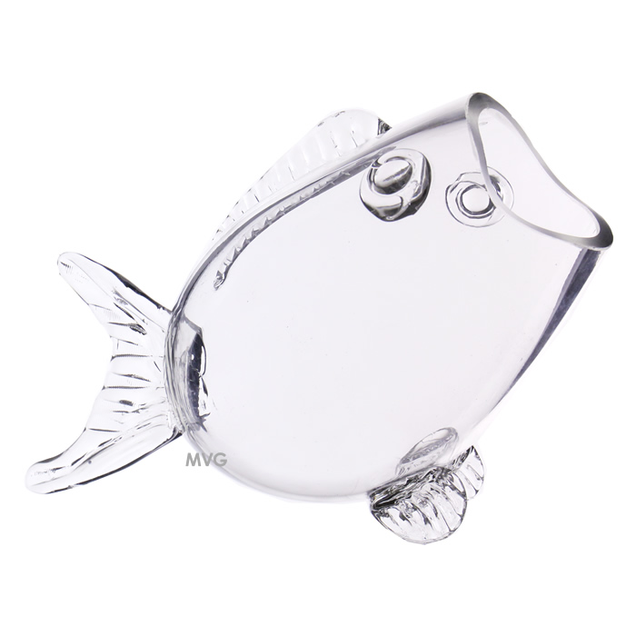 "Fish Shaped Glass Bowl. H-7.5"", Pack of 4 pcs"