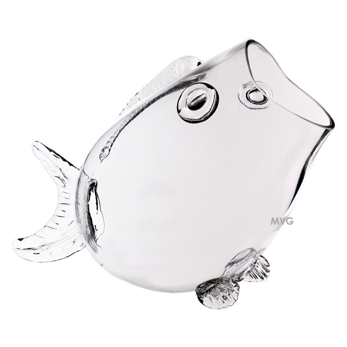 "Fish Shaped Glass Bowl. H-11"", Pack of 2 pcs"