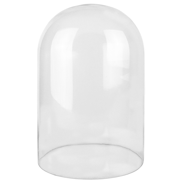 "Glass Cloches. H-15"", Wholesale Pack of 2 pcs"