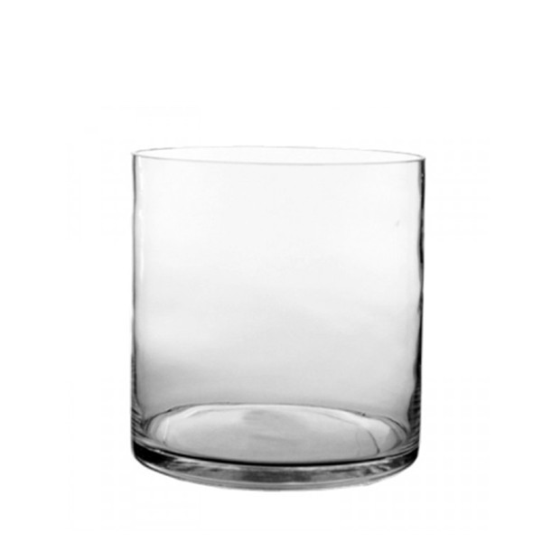 "Glass Cylinder Vases. H-7"",  Open D - 7"", Pack of 6 pcs"