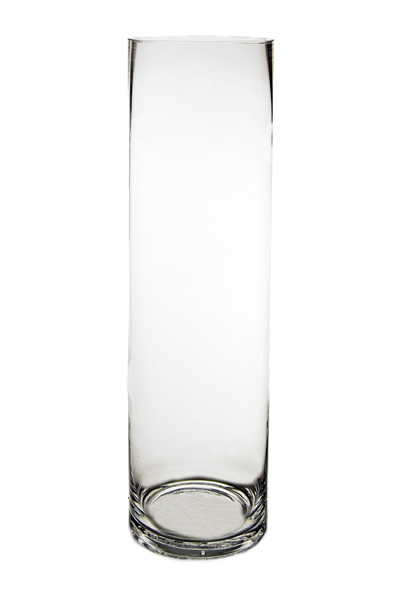 "Glass Cylinder Vases. H-18"",  Open D - 5"" , Pack of 6 pcs"