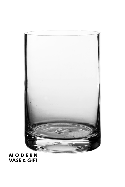 "Glass Cylinder Vases. H-6"", Open D-4"", Pack of 12 pcs"