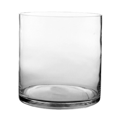 "Glass Cylinder Vases. H-8"",  Open D - 8"", Pack of 4 pcs"