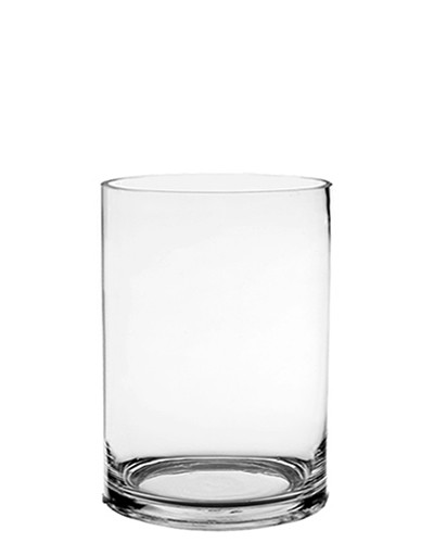 "Glass Cylinder Vases. H-7"",  Open D - 5"" , Pack of 12 pcs"
