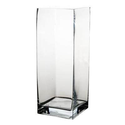 "Square Vase. H-16"", Pack of 4 pcs"