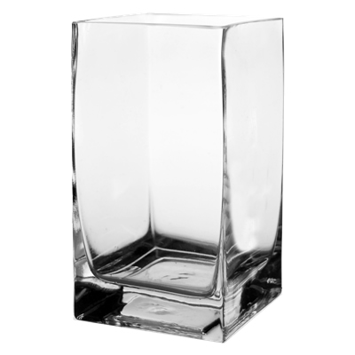 "Square Vase. H-6"", Pack of 12 pcs"