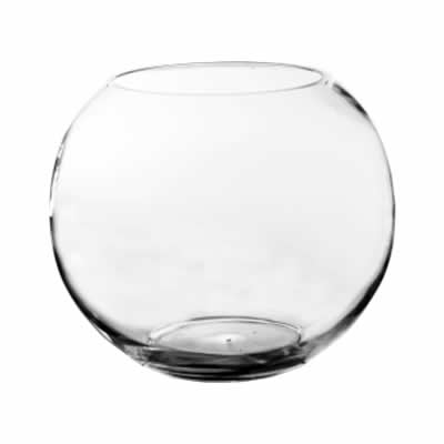 "Glass Bubble Fish Bowl. D-12"", Pack of 2"