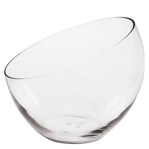 "Half Cut Slant Cut Bowl. H-12"", Pack of 2 pcs"