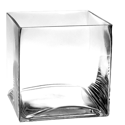 "Cube Vase. H-8"", Pack of 4 pcs"