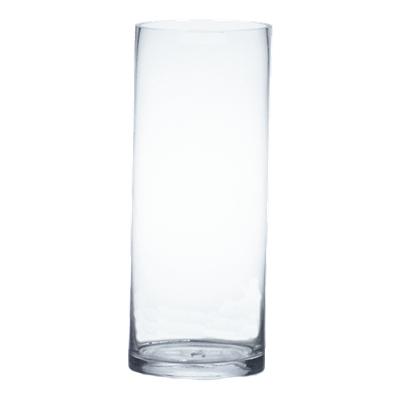"Glass Cylinder Vases.  H-22"", Open D - 8"", Pack of 4 pcs"