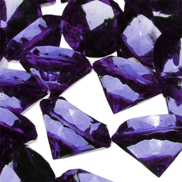 Acrylic Diamond Vase Fillers, Pack of 24 bags, Color: Violet