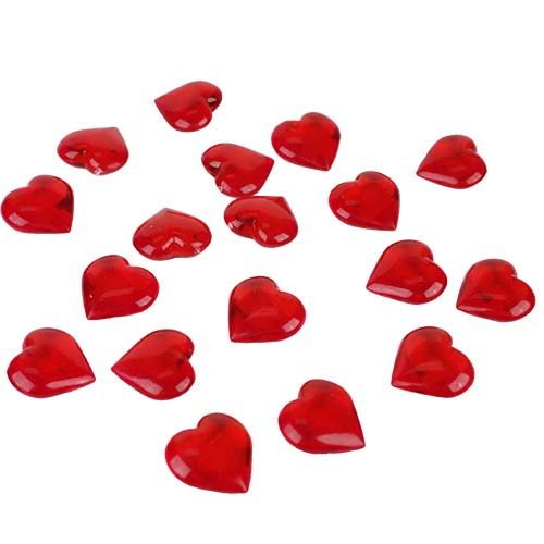 Acrylic Hearts: Red (12 bags )