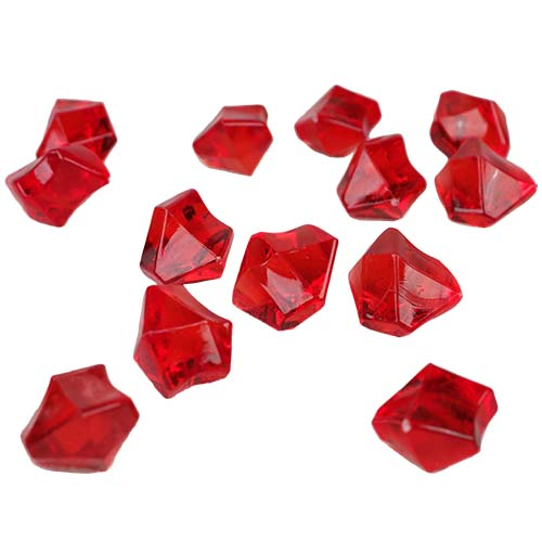 Acrylic Rocks Vase Fillers, Pack of 24 bags, Color: Red
