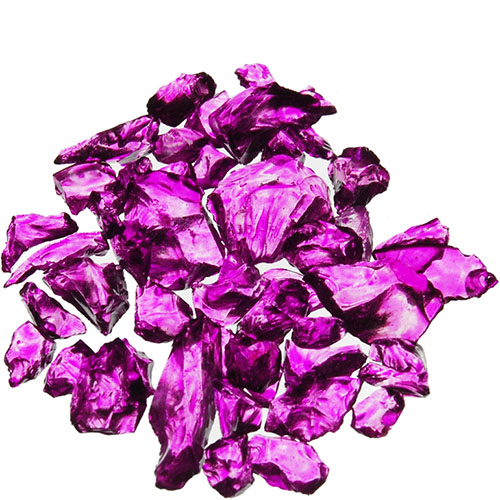 Crushed Colored Glass. Color:  Violet, Pack of 24 bags
