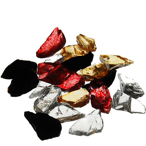 Crushed Colored Glass. Color:  Mix, Pack of 24 bags