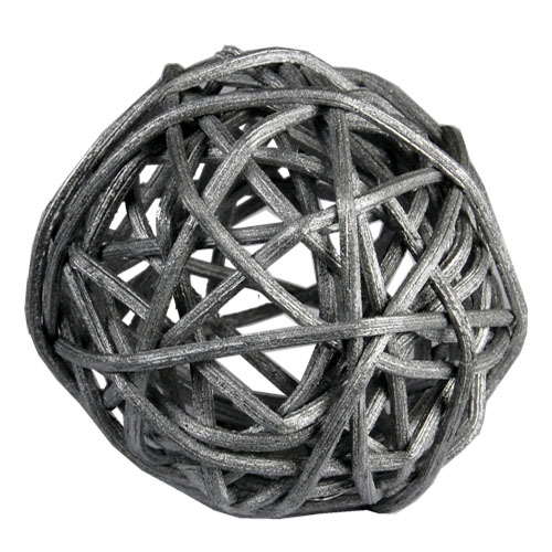 "Twig Ball Vase Fillers: SilverLarge D-4""(Pack of 15 bags - $4.40/bag)"
