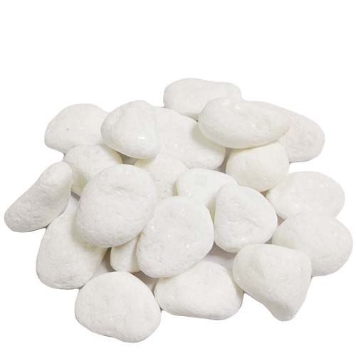 Large River Pebbles: White (12 bags - $1.60/bag)