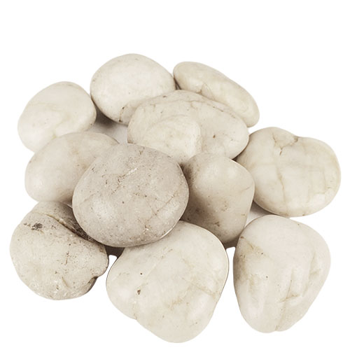 River Stones, River Rocks, Pack of 12 bags, Color: Natural White