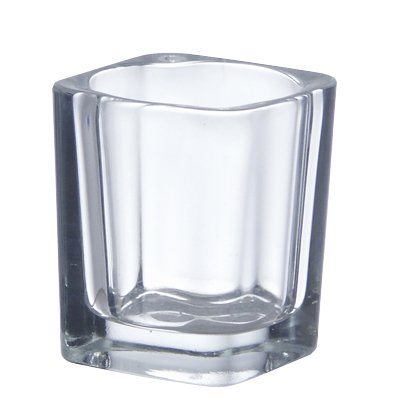 "Votive Candle Holder: Clear, H-2.5"", Open-2""x2"" (Pack of 96pcs - $0.56 ea)"