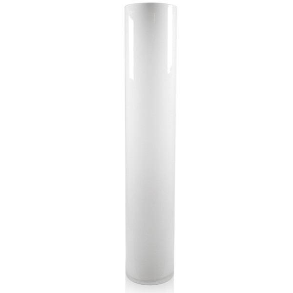 "White Cylinder Vase H-32"", Open D - 6"", Pack of 4 pcs"