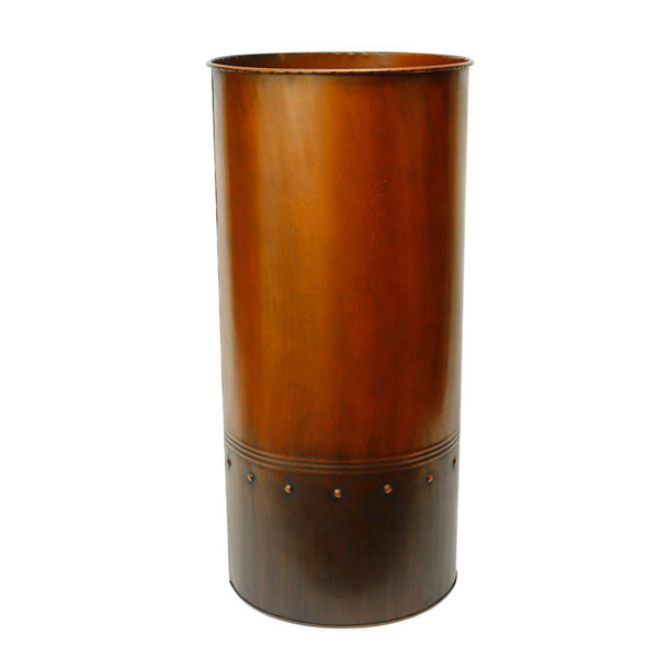 "Zinc Cylinder Vase Copper Finished. H-25"",Pack of 4 pcs"