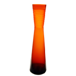 "Carved Tiered Vase: Autumn Orange, H-18.5"", Open-3.5"""