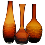 Carved Artistic Vase: Amber (SET of 3)