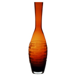 "Carved Artistic Autumn Vase: Amber H-15"", Open-1.75"""