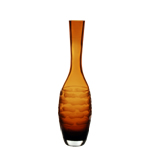 "Carved Artistic Autumn Vase: Amber H-13"", Open-1.5"""