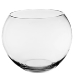 "Glass Bubble Fish Bowl. D-10"", Pack of 6"