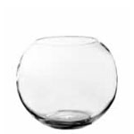 "Jumbo Bubble Fish Bowl. H-10"", Pack of 2 pcs"