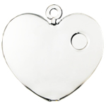 "Hanging Heart Shape Terrarium. H-4.5"", Pack of 48 pcs"